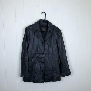 Danier Leather Button Down Jacket Sz S